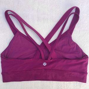 LULULEMON 8 purple sports bra